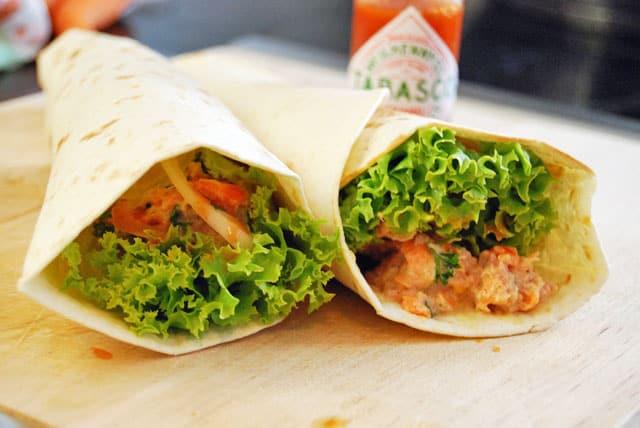 Thunfisch-Karotten-Wrap