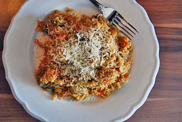 Einfaches Rezept für Reisfleisch im Topf