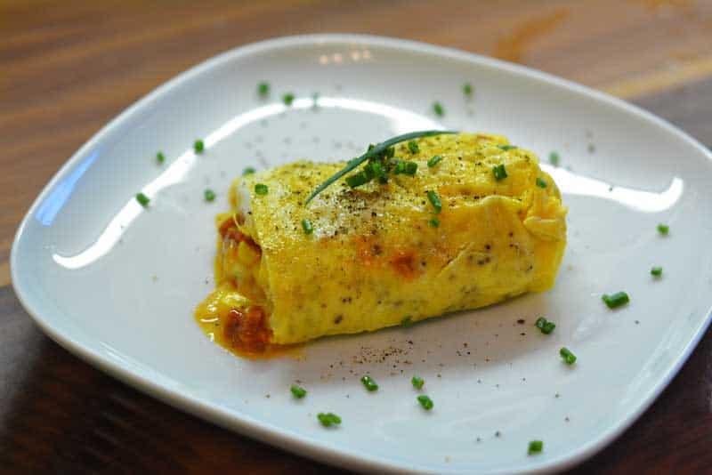 Omelett aus dem Wasserbad