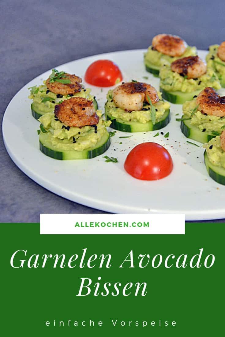 Garnelen Avocado Bissen sind eine einfache Vorspeise und auch noch gesund. Und sehr schnell zu machen.