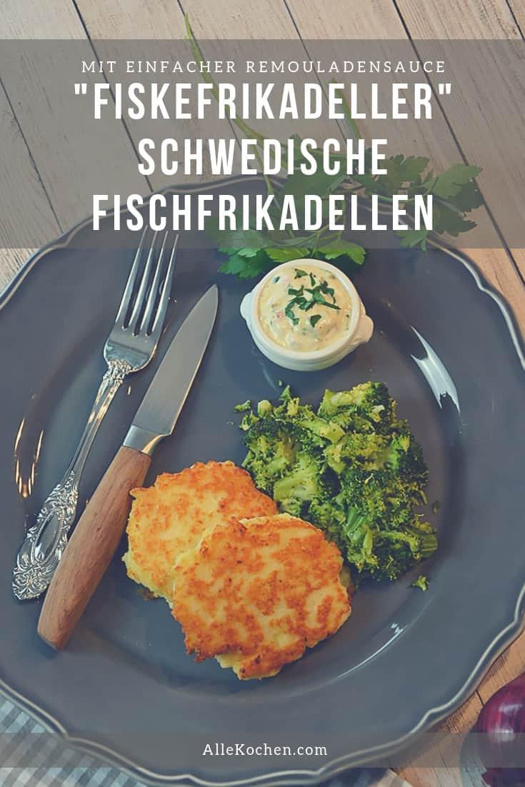 Rezept für Fischfrikadellen mit Remoulade und Brokkoli. Eine einfache Alternative zur Frikadelle aus Hackfleisch.
