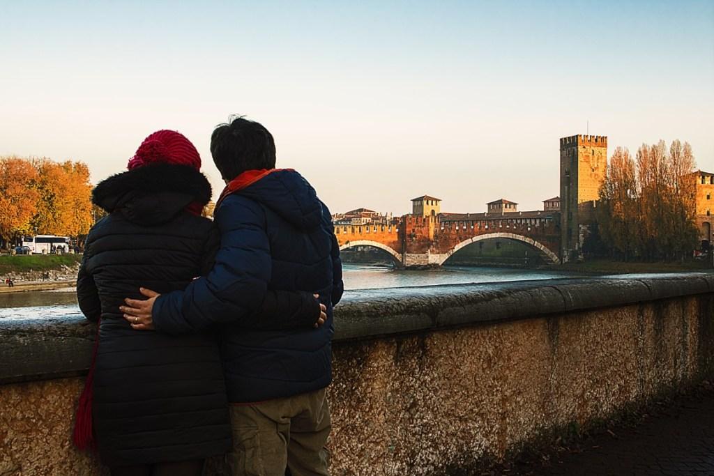 Verona Castelvecchio al tramonto
