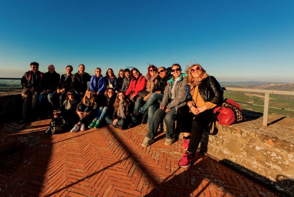 I partecipanti all'Educational Tour Volterra e Val Di Cecina