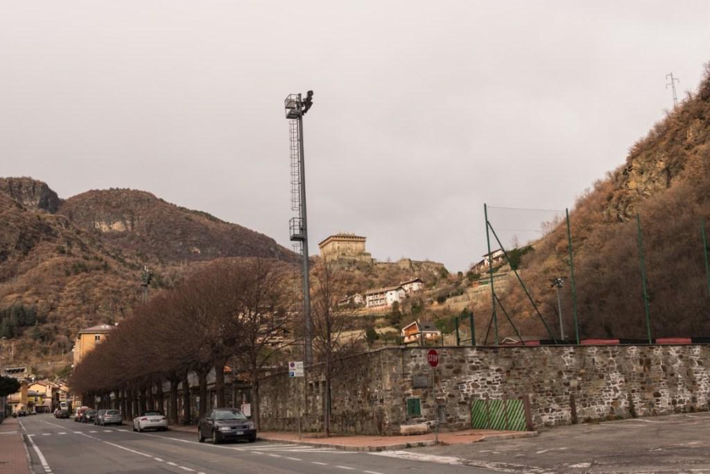 Area sosta Verres: posizione