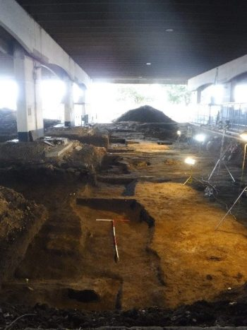 Lincoln bus station under excavation