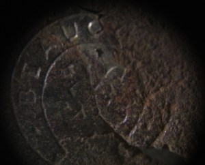Stamped horseshoe-shaped makers mark