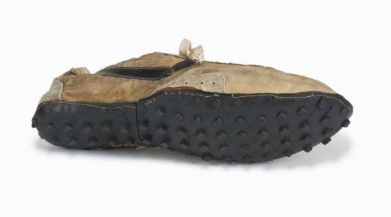 A Nike waffle shoe