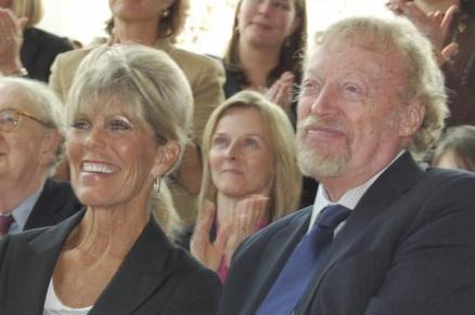 Penelope Parks, with Phil Knight