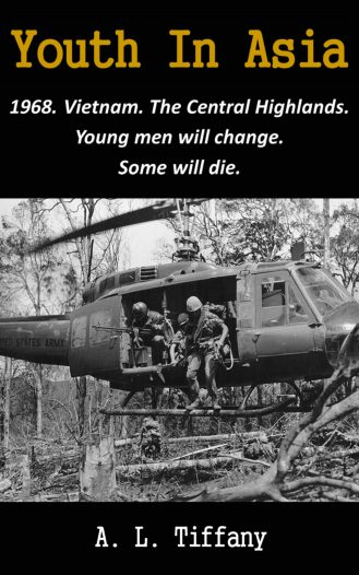 American soldiers in Vietnam exiting a Huey Helicopter