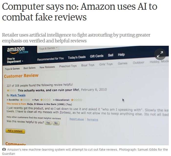 Combating fake reviews, Amazon to crack down, book writing, book publishing