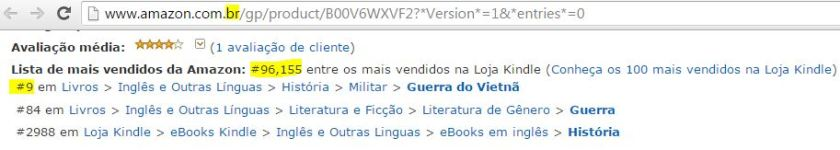 Brazil bestseller list, Amazon, best seller
