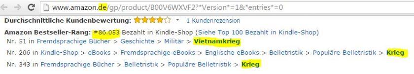 German Amazon, Deutschland, vietnamkrieg vietnam war novel,