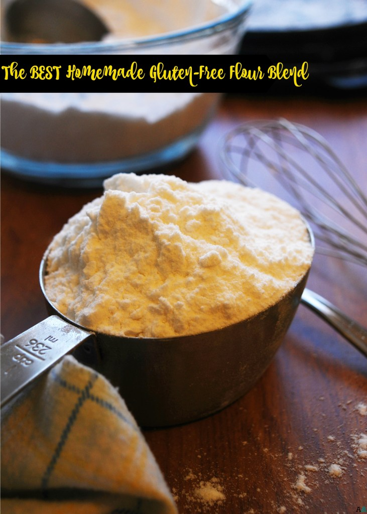 The BEST homemade gluten-free flour blend. Recipe by AllergyAwesomeness.com