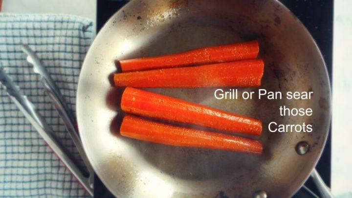 Carrots seared