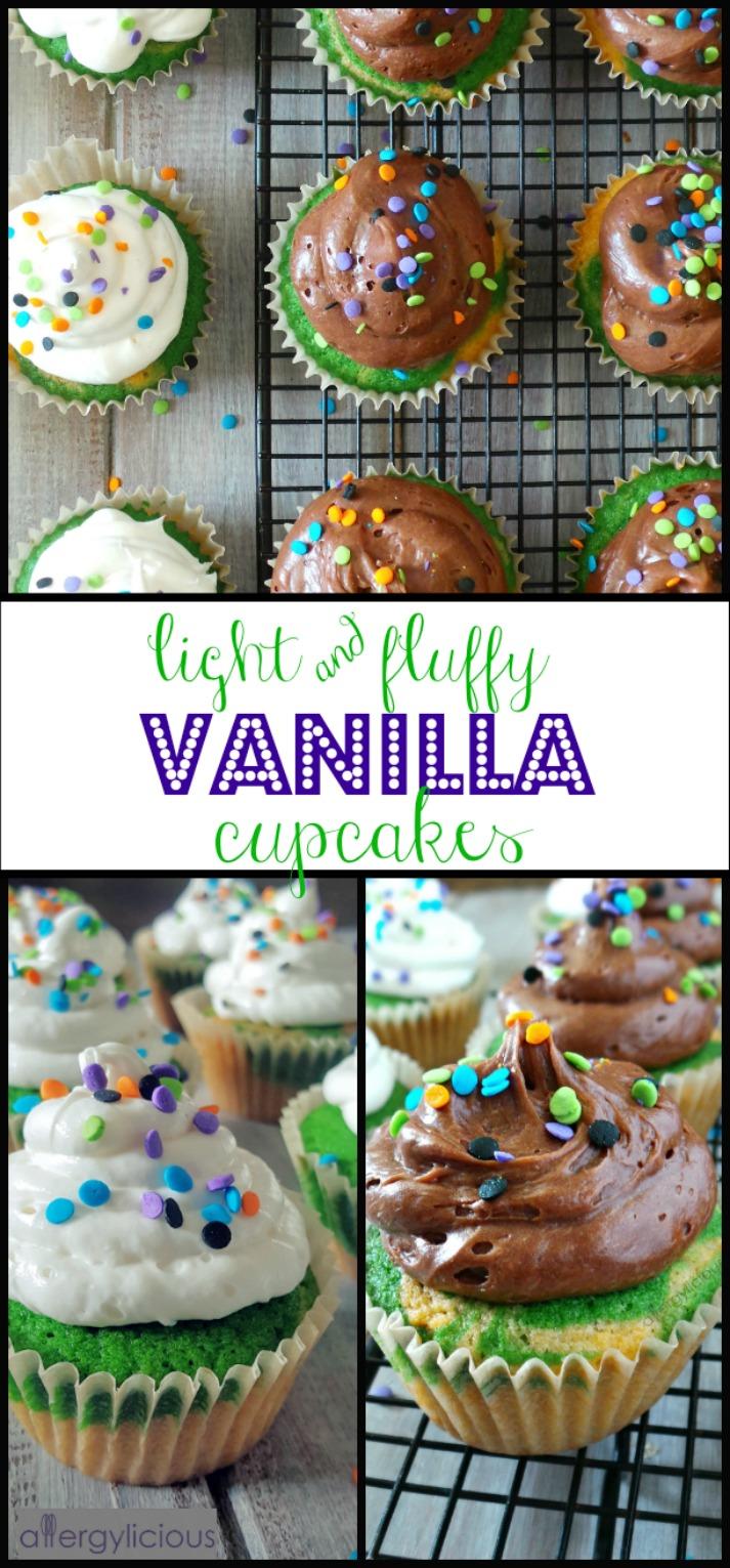 Fluffy Vanilla Cupcakes with Aquafaba
