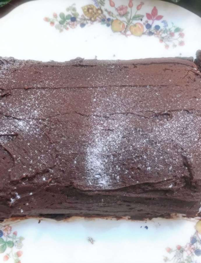 Vegan Chocolate Log