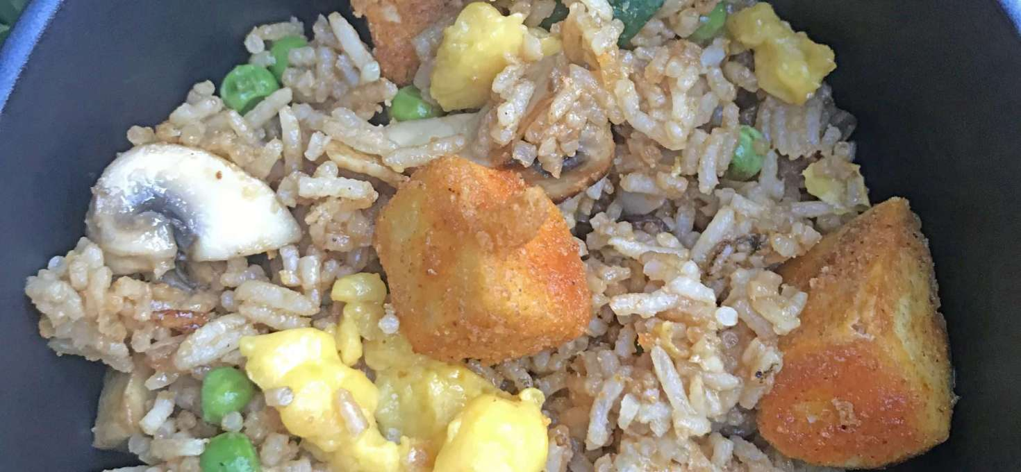 Vegan 'Egg' Fried Rice