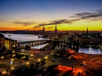 Sonnenuntergang Stockholm
