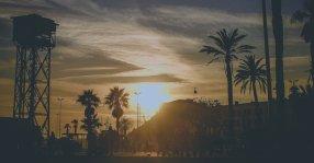 Barcelona Sonnenuntergang