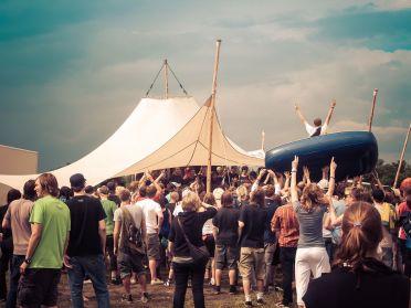 Audiolith Parkplatz-Rave auf dem Melt! Festival 2008