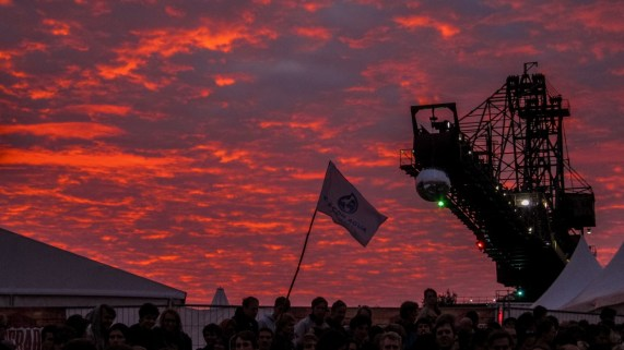 Sonnenuntergang auf dem Melt! Festival 2011
