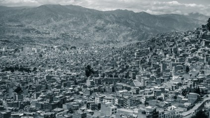 Blick in die Häuserschluchten von La Paz
