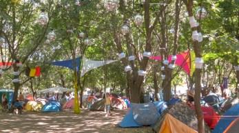 Campingplatz auf dem Sziget Festival 2013