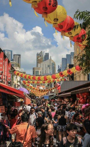 Chinatown tagsüber
