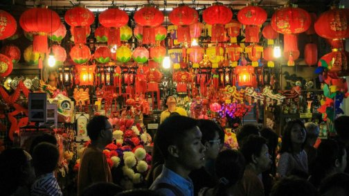 Stand in Chinatown in Singapur