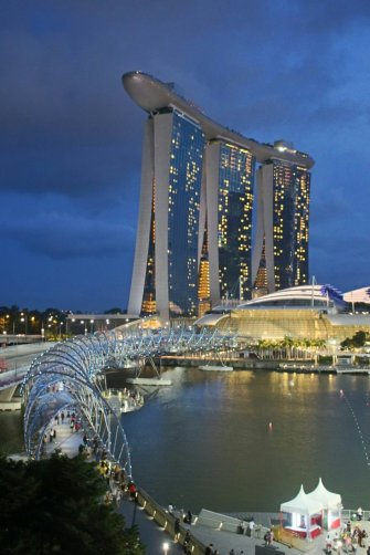 Das Luxushotel Marina Bay Sands in Singapur
