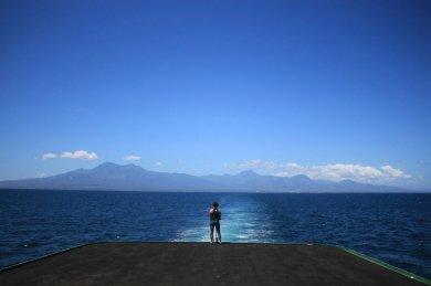 Hinfahrt auf dem Boot