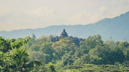 Borobudur in der Totale