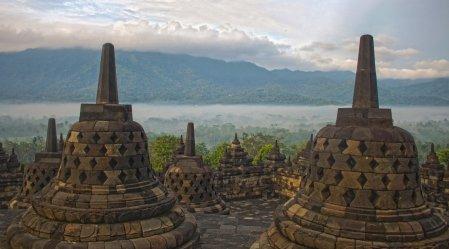 Stupas auf dem Borobudur