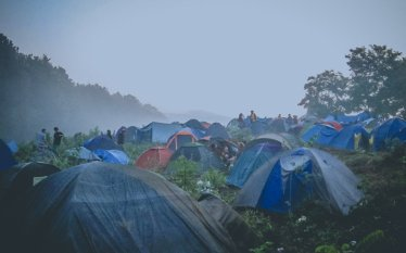 Campingplatz auf dem Haltestelle Woodstock-Festival 2012