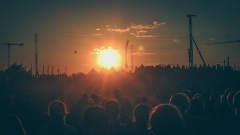 Sonnenuntergang auf dem MS Dockville Festival 2012