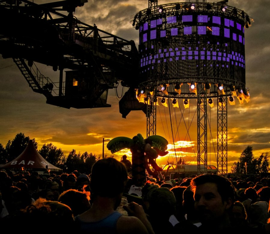 Big Wheel Stage auf dem Melt! Festival 2012