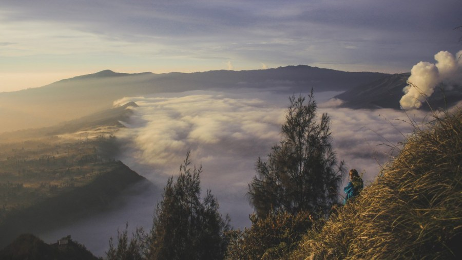 Cemoro Lawang und Gunung Bromo am Nebelmeer