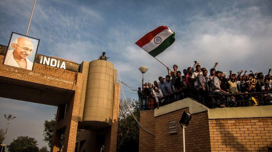 An der indisch-pakistanischen Grenze