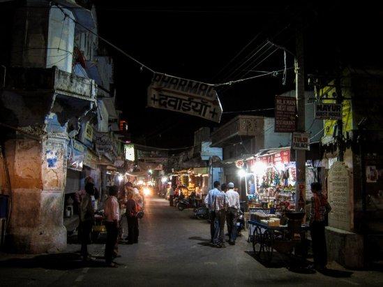 Pushkar am Abend