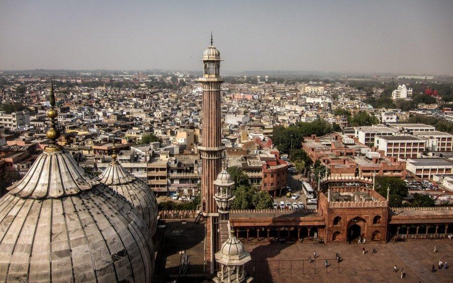 Vogelperspektive von Delhi