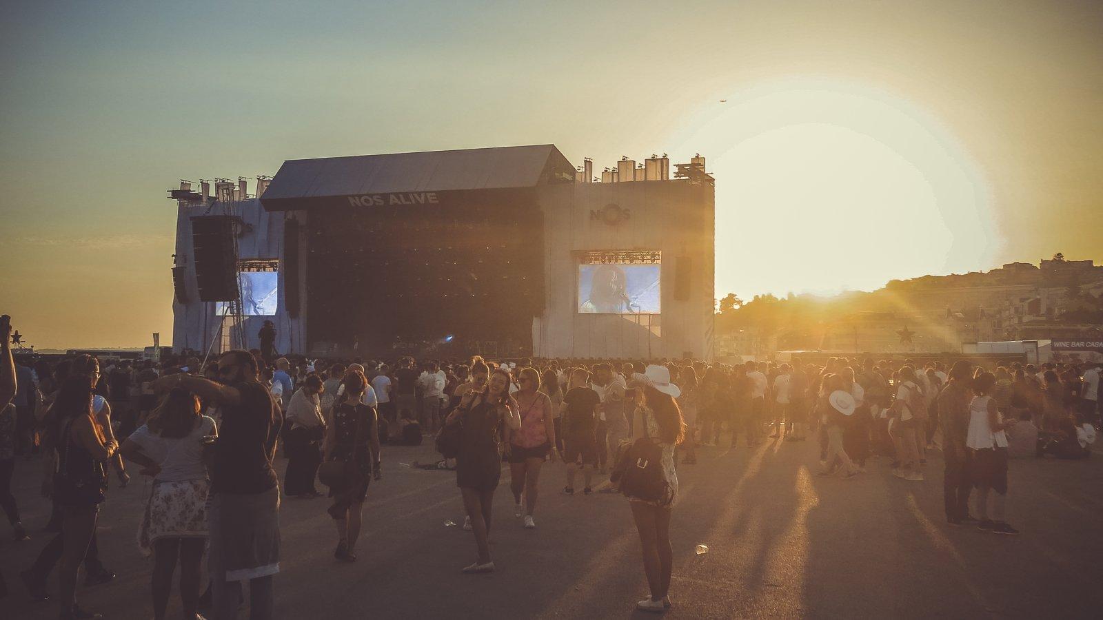 Die Bühne auf dem NOS Alive Festival 2016