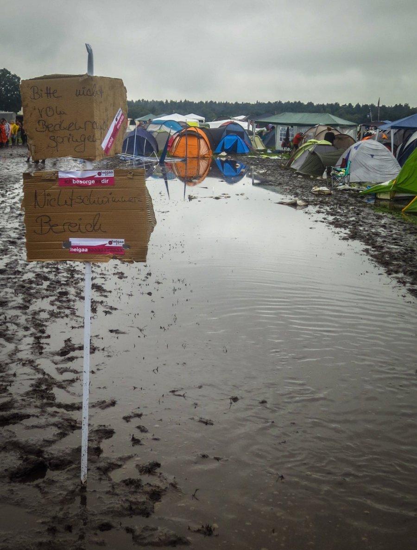 Campingplatz auf dem Hurricane Festival 2016