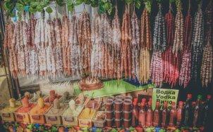 Tschurtschchela (ჩურჩხელა) auf dem Bazar