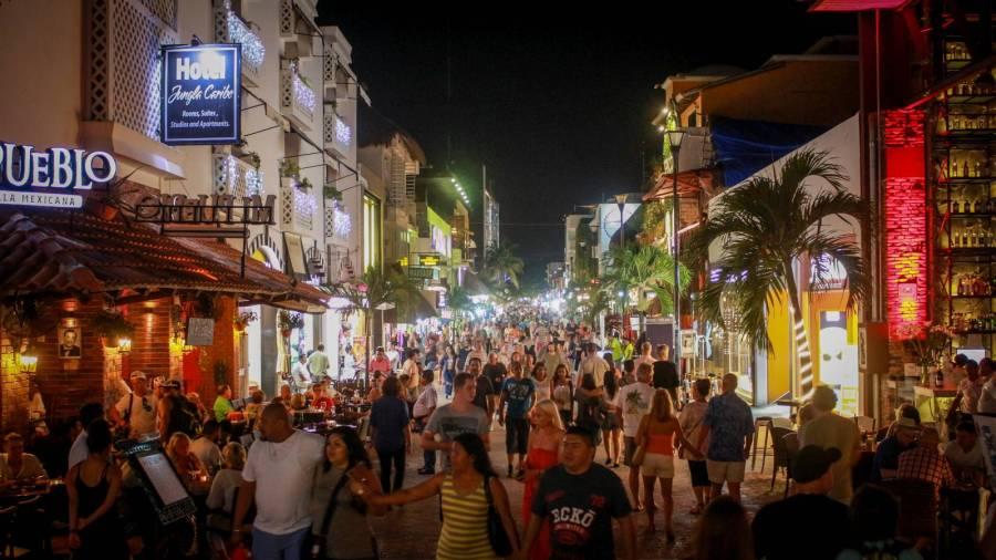 Playa del Carmen am Abend