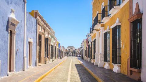 Straßenzug in Campeche