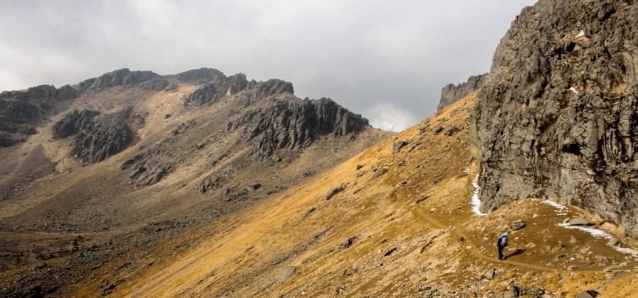 Der Weg zum Gipfel vom Iztaccihuatl