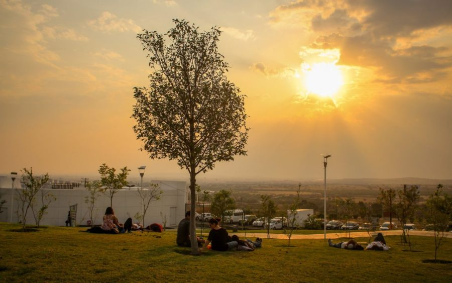 Sonnenuntergang auf dem L4TIDO-Festival in Guanajuato