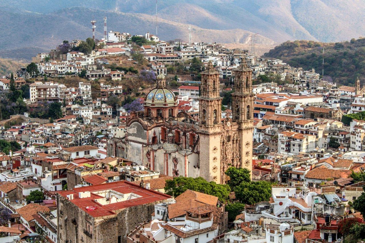 Blick auf Taxco