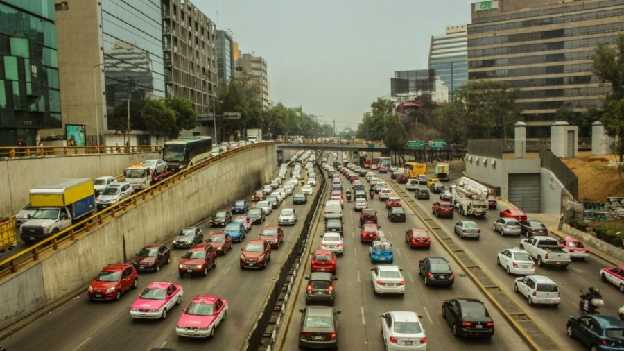Stau in Mexico City