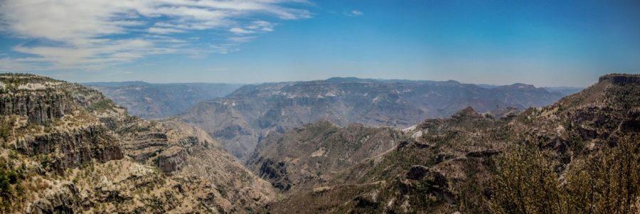 Panorama der Kupferschlucht in Divisadero